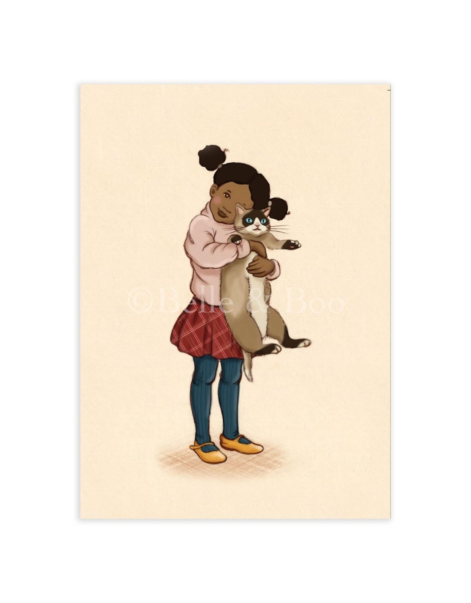 Belle & Boo card - cat cuddles