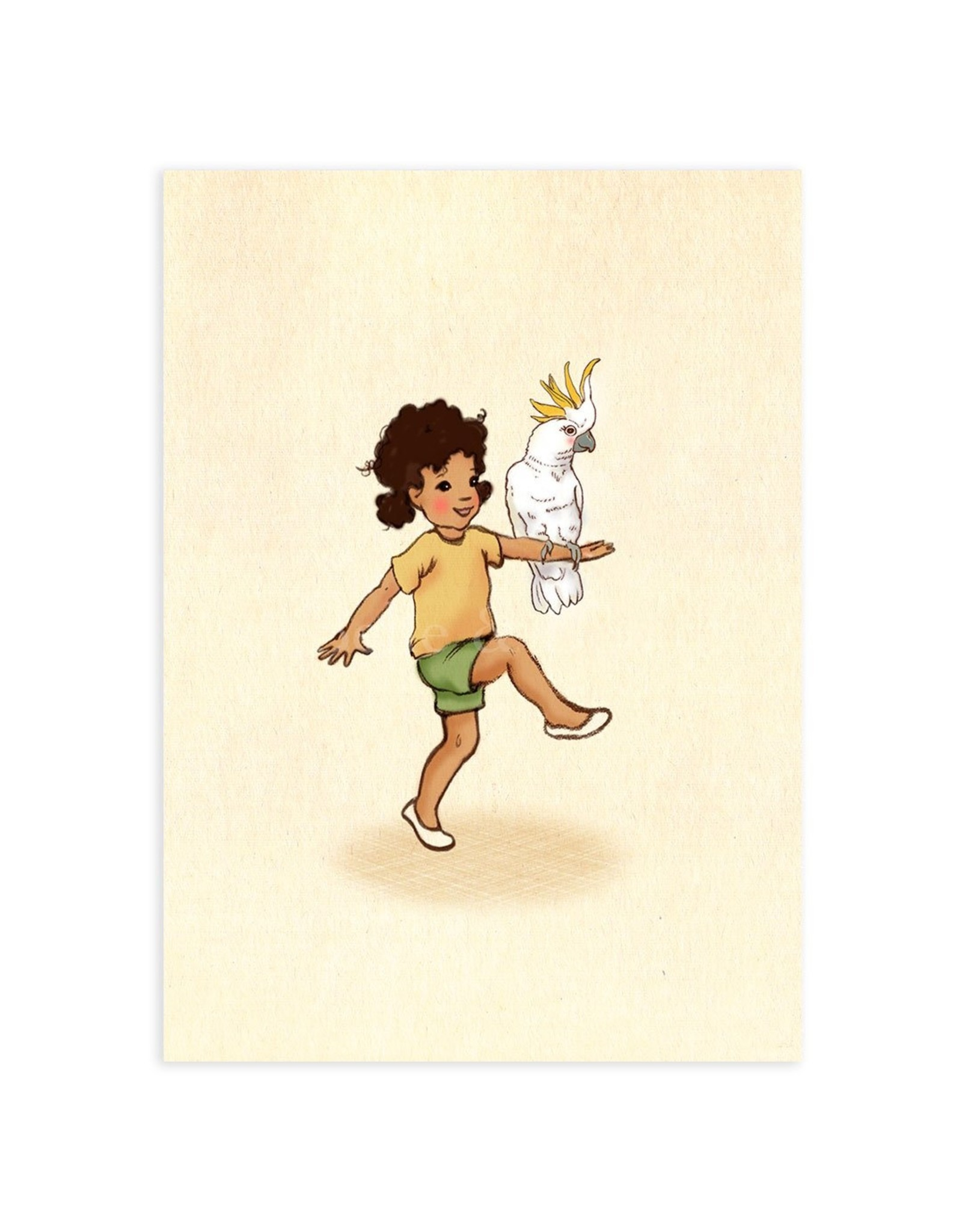Belle & Boo kaart - papegaai meisje
