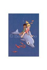 Belle & Boo card - dolphin adventure
