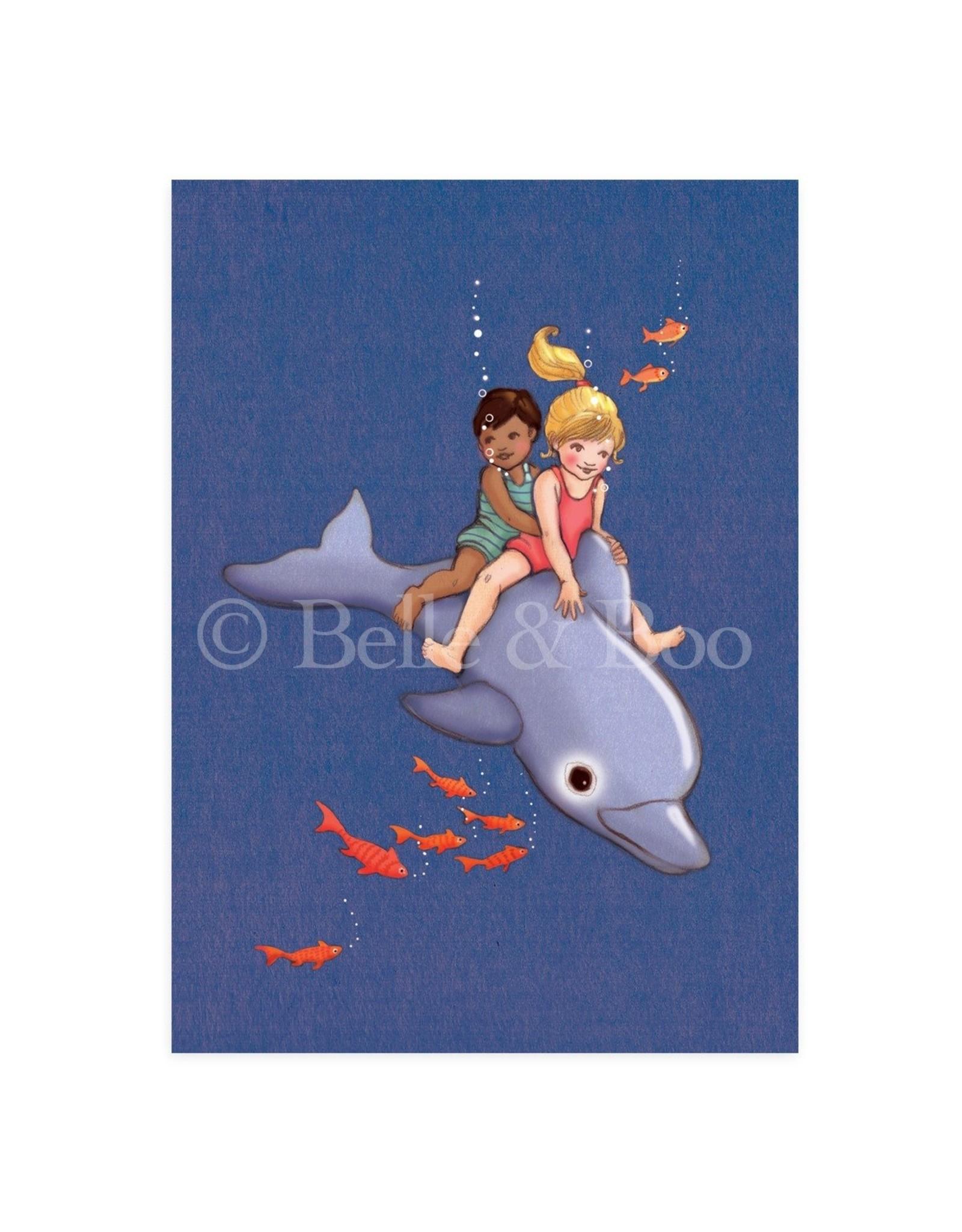 Belle & Boo kaart - dolfijnen avontuur