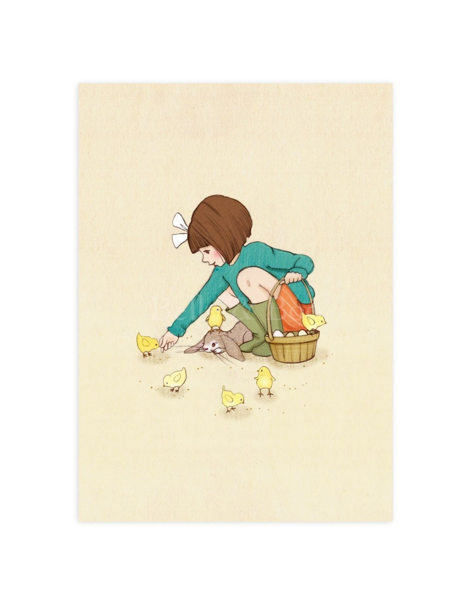 Belle & Boo card - feed the chicks