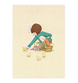 Belle & Boo kaart - kuikens voeren