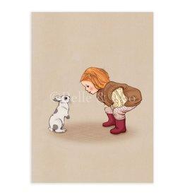 Belle & Boo card - hello bunny