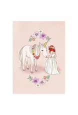 Belle & Boo card - hello unicorn