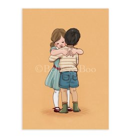 Belle & Boo card - lets hug