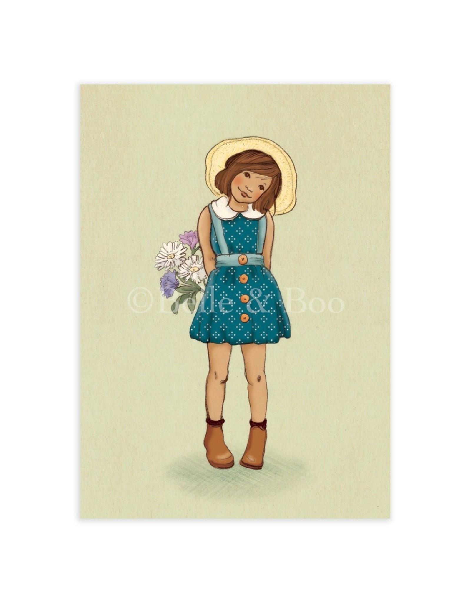 Belle & Boo kaart - bloemen meisje