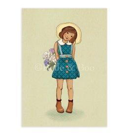 Belle & Boo card - little flower girl
