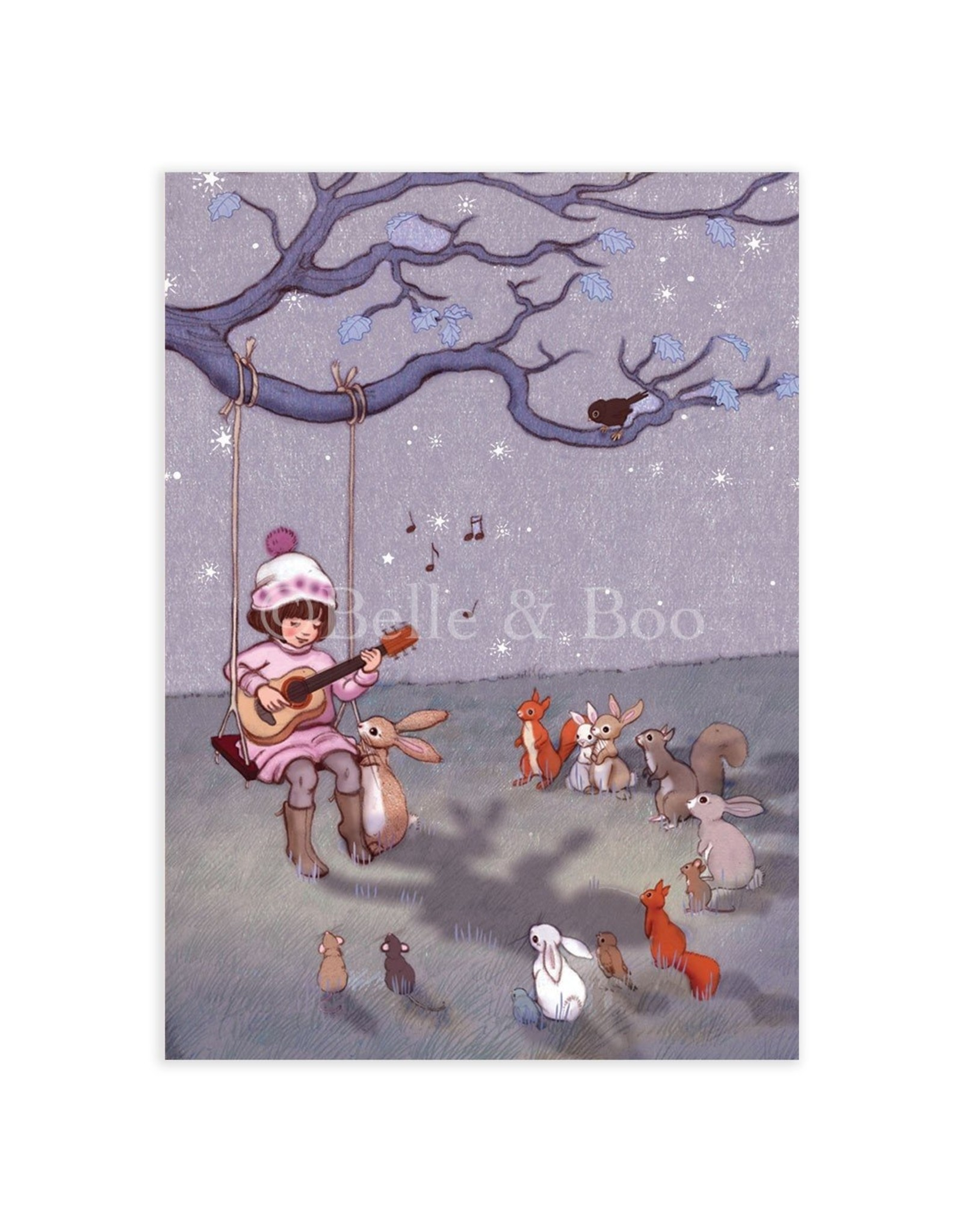 Belle & Boo card - lullaby