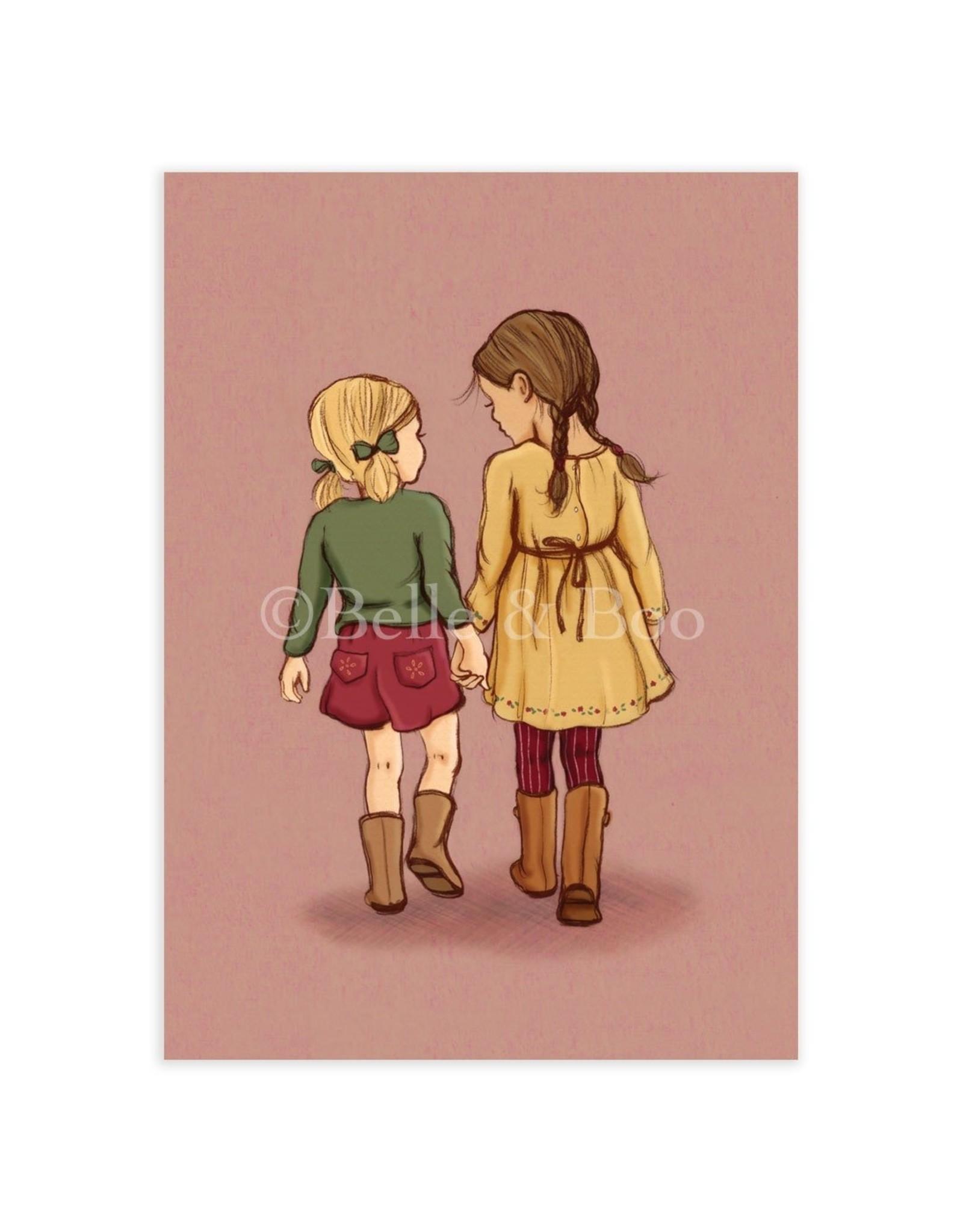 Belle & Boo kaart - hand in hand