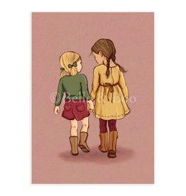 Belle & Boo card - never let go