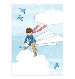 Belle & Boo card - paper plane