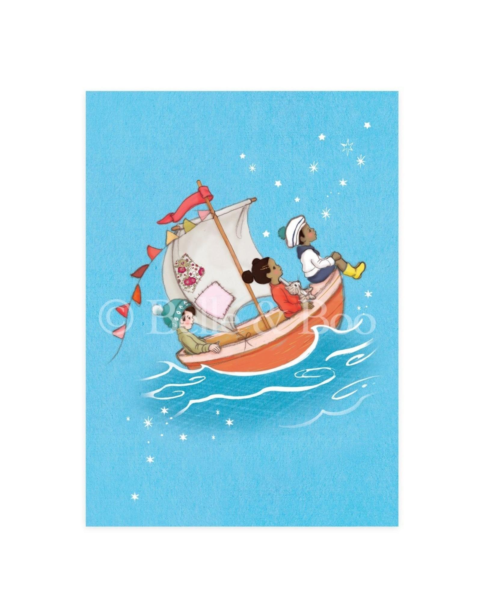 Belle & Boo card - sail boat dreams