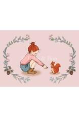 Belle & Boo card - squirrel girl