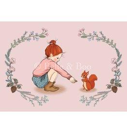 Belle & Boo kaart - eekhoorn meisje