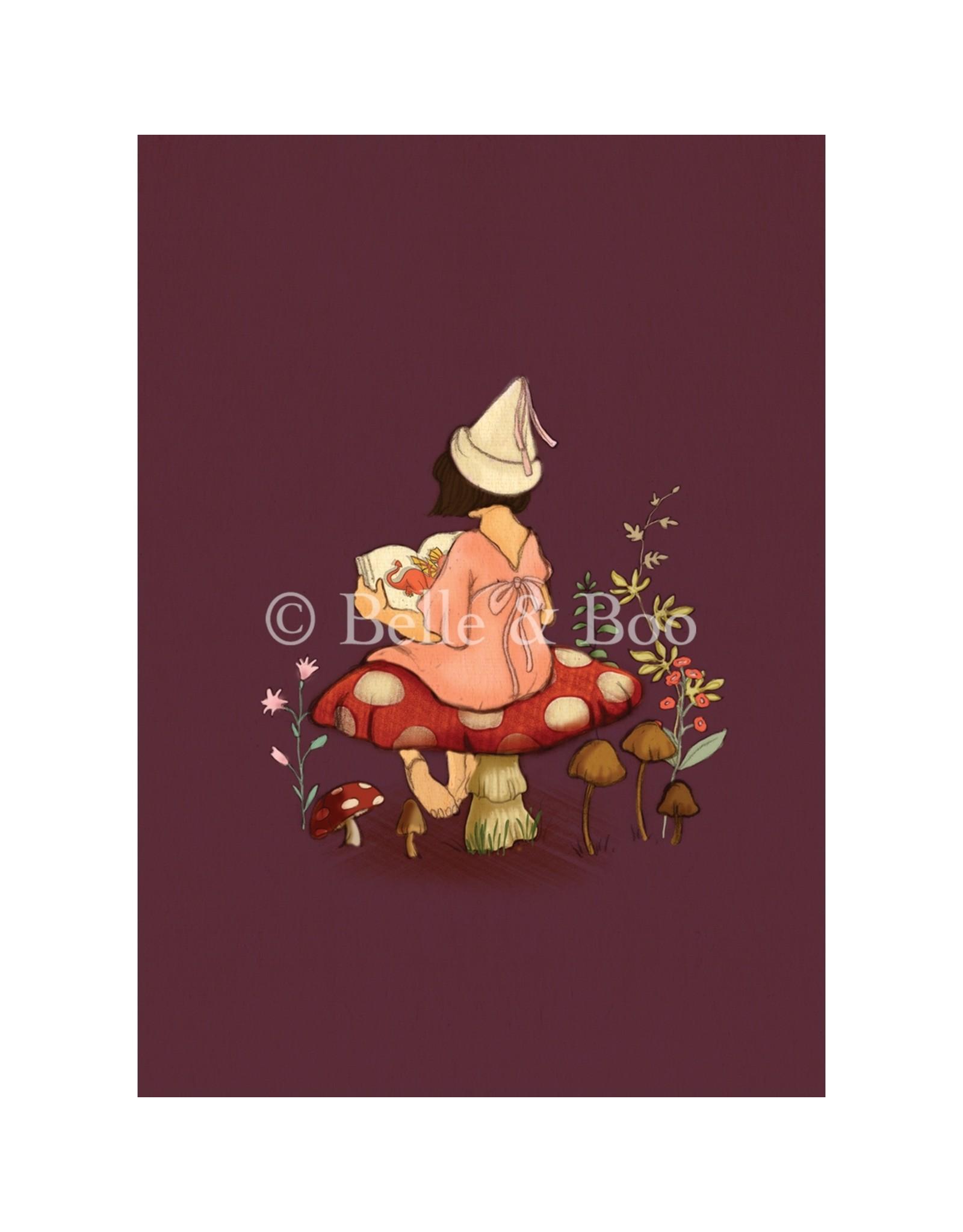 Belle & Boo card - toadstool tales
