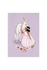 Belle & Boo card - unicorn kiss