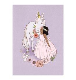 Belle & Boo kaart - eenhoorn kus