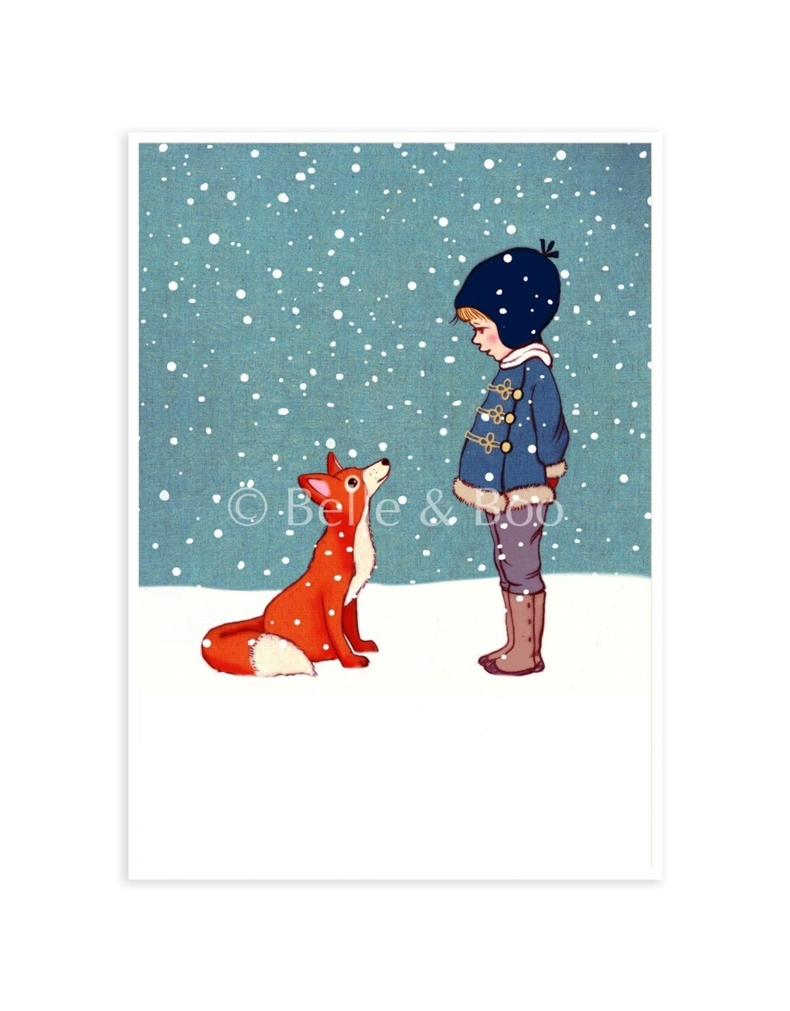 Belle & Boo kerstkaart - Wintervos