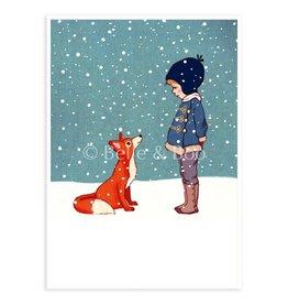 Belle & Boo christmas card - Winter fox