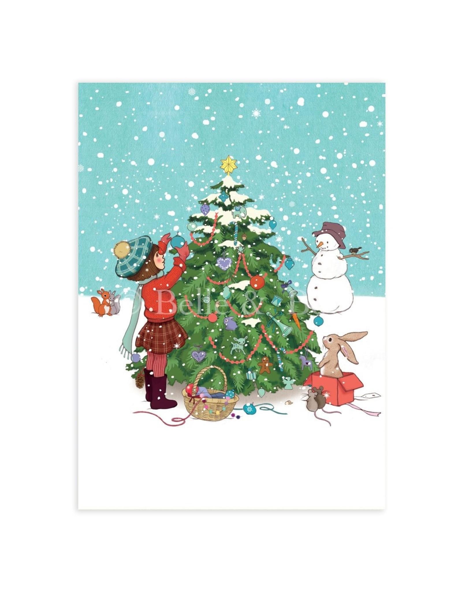 Belle & Boo kerstkaart - vrolijk kerstfeest!