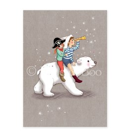 Belle & Boo christmas card - polar adventure