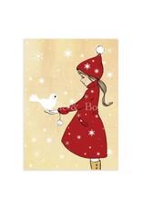 Belle & Boo kerstkaart - elle en de duif