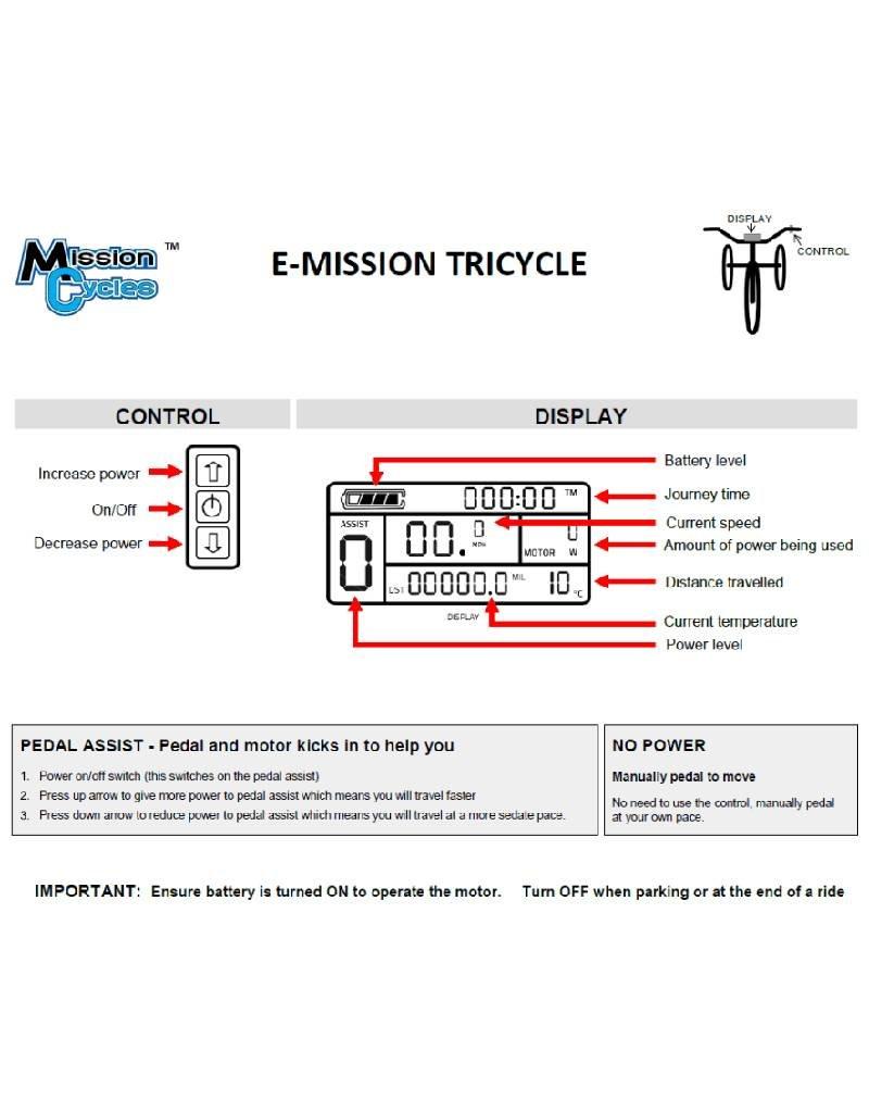 Mission Elektrische Driewieler - E-Mission