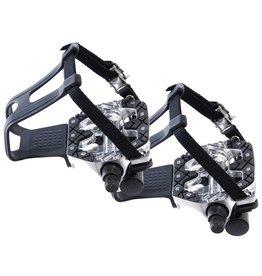Zelfstellende pedalen met teenclips