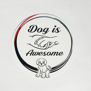 Dog is Awesome® Runder Aufkleber