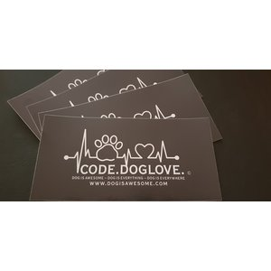Dog is Awesome® Aufkleber CODE.DOGLOVE