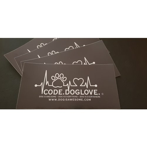 Dog is Awesome® Sticker CODE.DOGLOVE