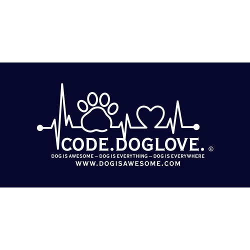 "Dog is Awesome® Bechertasse ""CODE.DOGLOVE"""