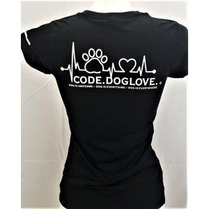 Dog is Awesome® V-Neck T-Shirt: CODE.DOGLOVE