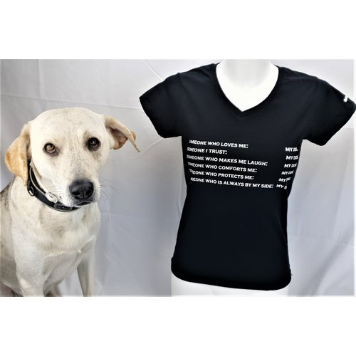 Dog is Awesome® V-Neck T-Shirt: CODE.DOGLOVE