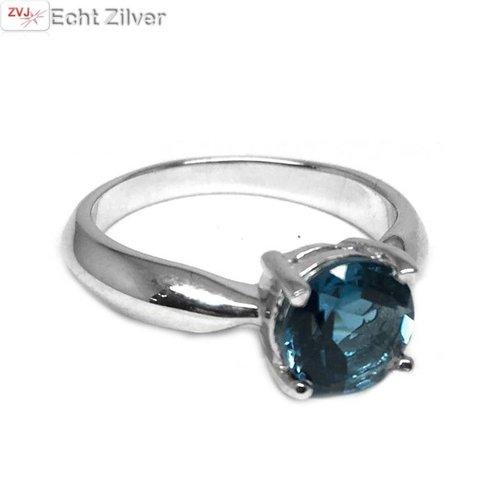 ZilverVoorJou Zilveren London Blue Topaas edelsteen ring