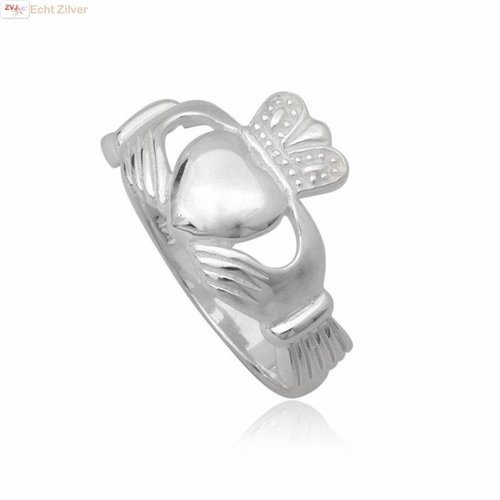 ZilverVoorJou Zilveren keltische heren claddagh ring