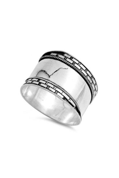 OUTLET Zilveren brede Keltische ring