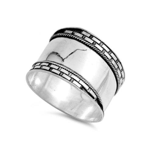 ZilverVoorJou OUTLET Zilveren brede Keltische ring