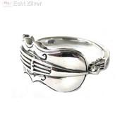 ZilverVoorJou Zilveren viool ring