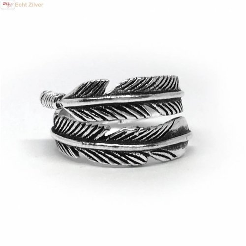 ZilverVoorJou Zilveren veer ring