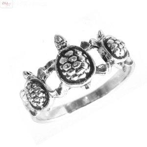 ZilverVoorJou Zilveren schildpad turtle ring