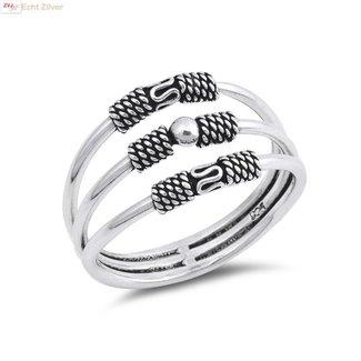 ZilverVoorJou Zilveren keltische 3 ringen in 1 ring