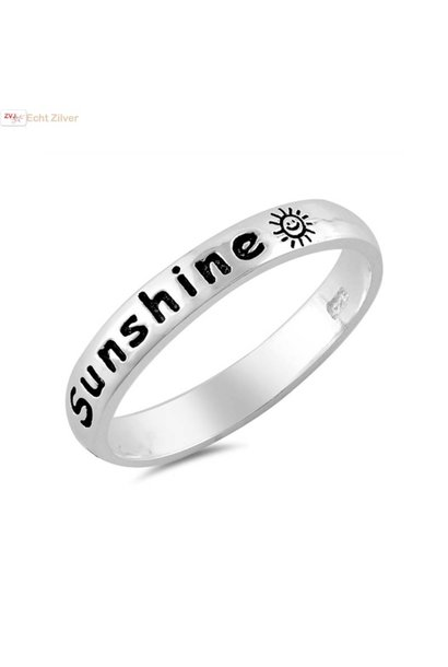 Zilveren you are my sunshine ring