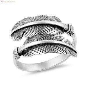 ZilverVoorJou Zilveren veren ring