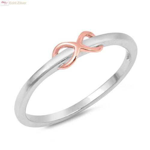 ZilverVoorJou Zilveren vergulde infinity ring