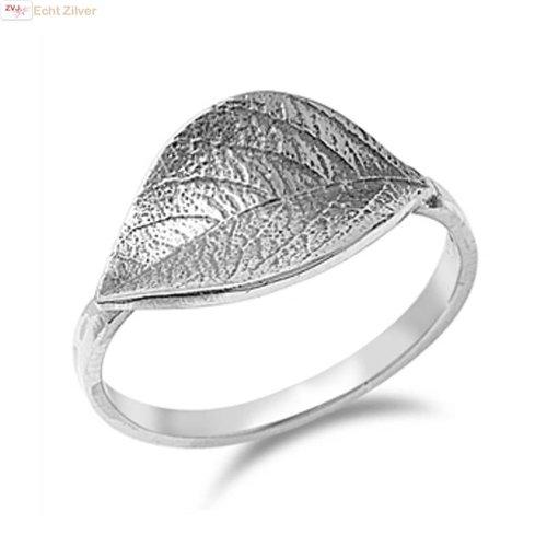 ZilverVoorJou Zilveren blad ring