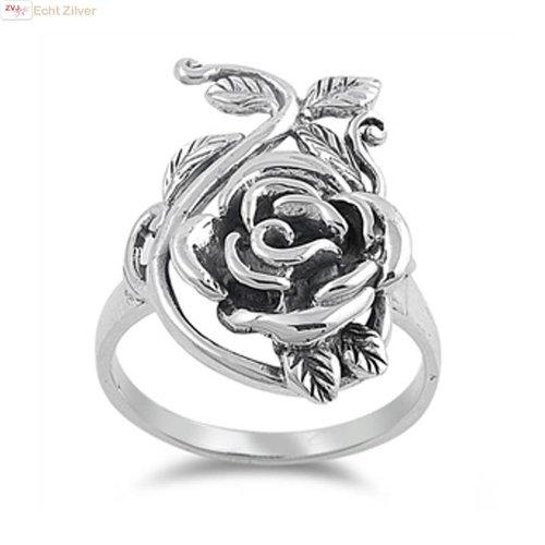 ZilverVoorJou Zilveren sier roos ring