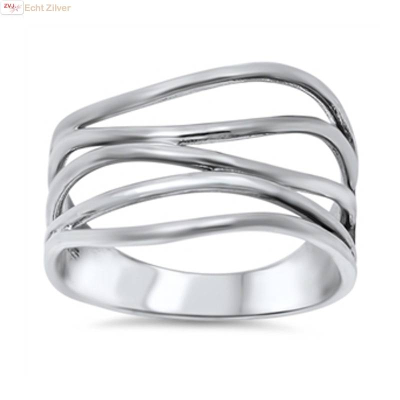 Zilveren sier draad  ring-1