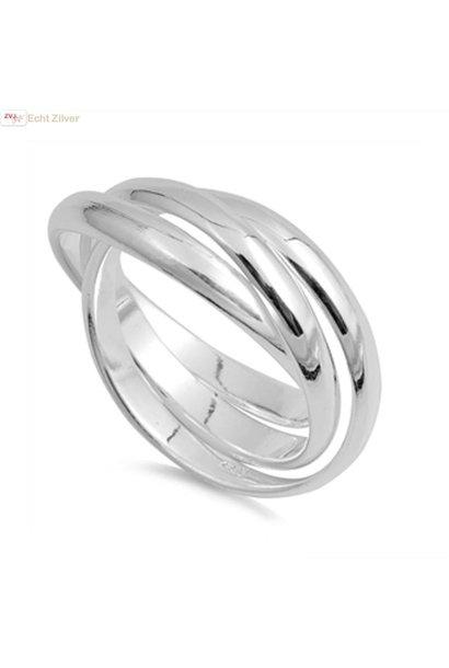 Zilveren trinity ring