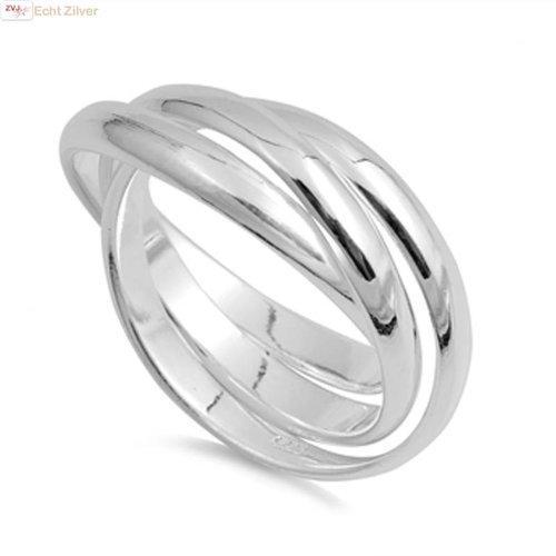 ZilverVoorJou Zilveren trinity ring